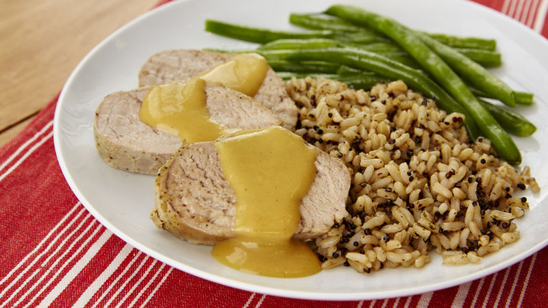 Slow-Cooker Honey Dijon Pork Tenderloin