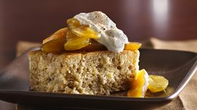 Brown Sugar-Spice Cake with Caramelized Apples