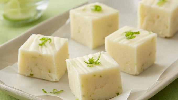 Key Lime-White Chocolate Fudge