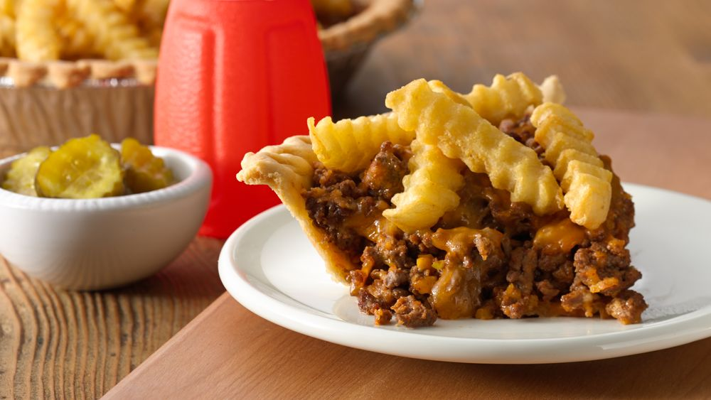 Cheeseburger and Fries Pie