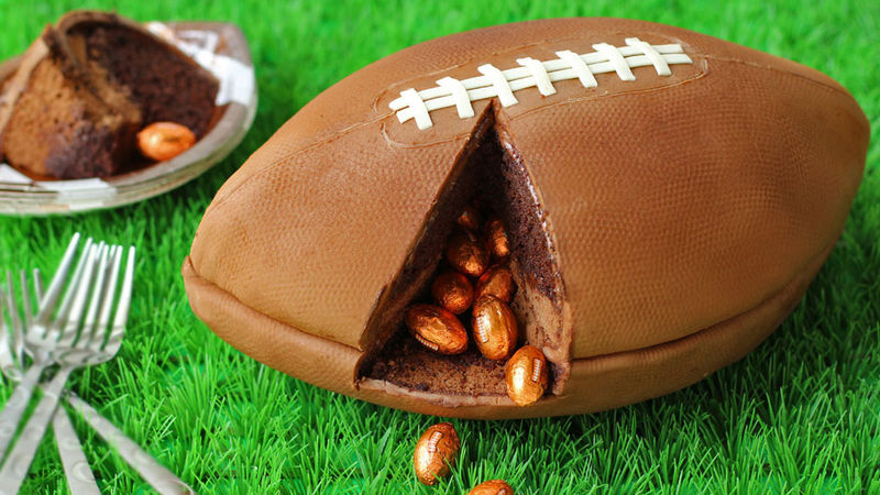 Game Day Football Cake Recipe Tablespoon Com