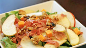 Apple, Prosciutto and Walnut Salad