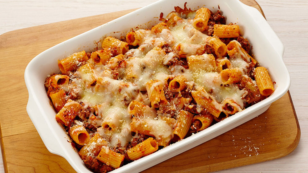 Baked Rigatoni with Beef recipe from Pillsbury.com