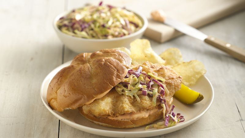 Buttermilk Fried Chicken Sandwiches with Spicy Slaw