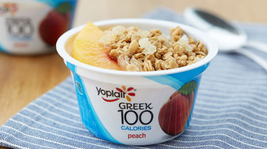 Peach Crumble Yogurt Cup