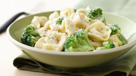 Broccoli and Tortellini Alfredo