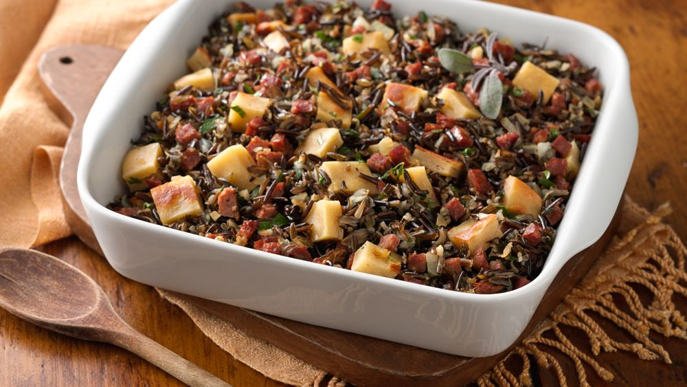 Gluten-Free Wild Rice, Chorizo and Bread Stuffing