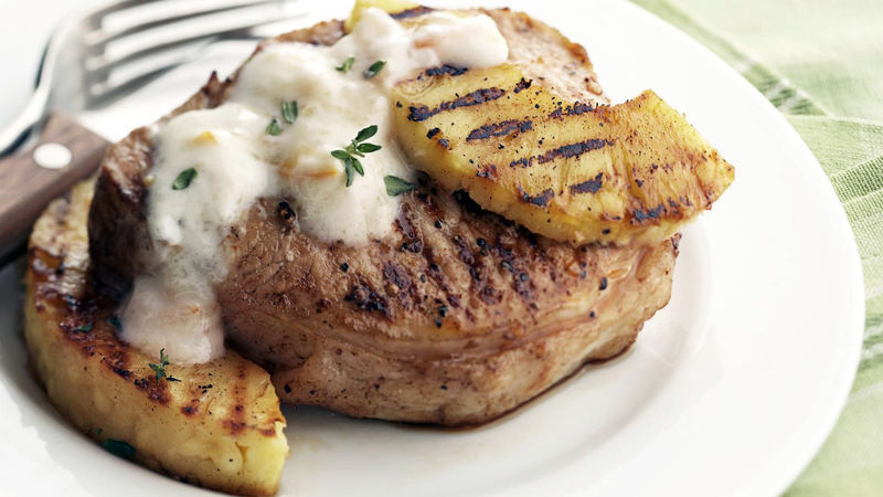 Skinny Orange Pork and Pineapple on the Grill
