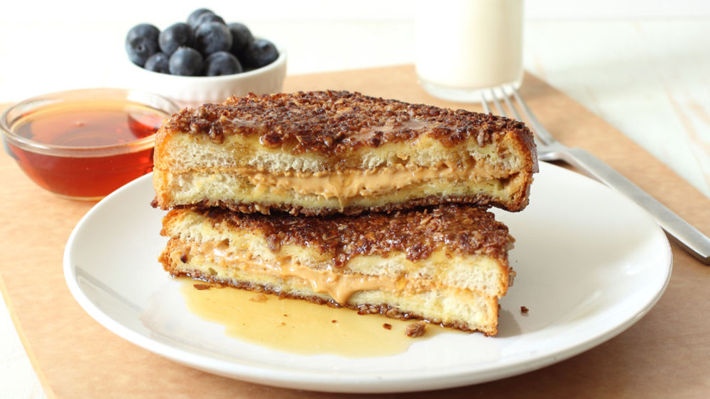 Peanut Butter-Stuffed Granola French Toast