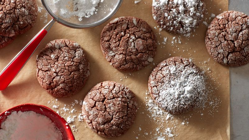 Easy Chocolate Sugar Cookie Crinkles