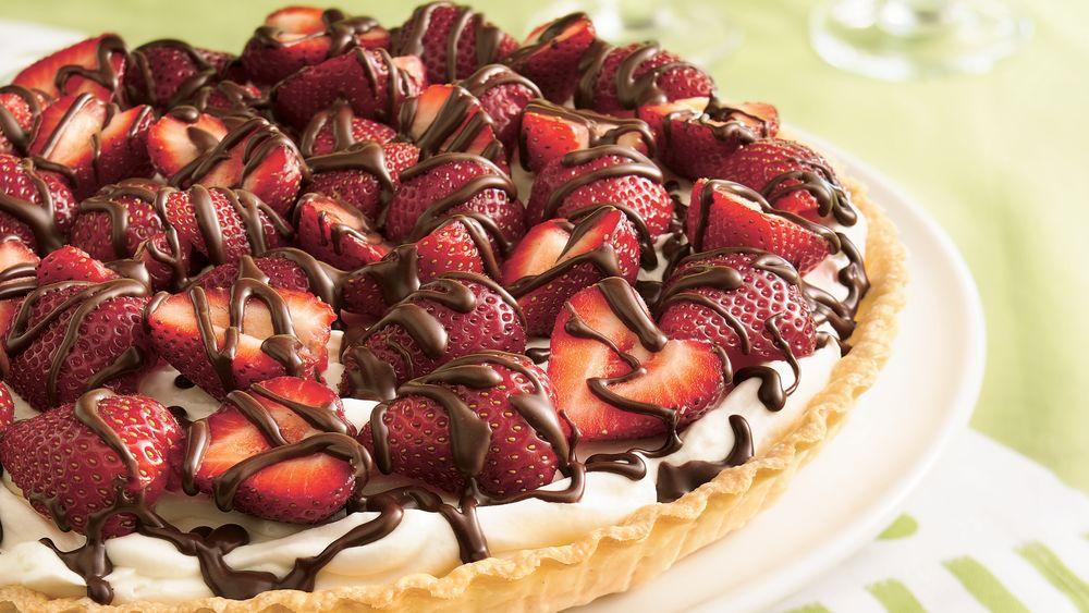 Strawberries and Cream Tart