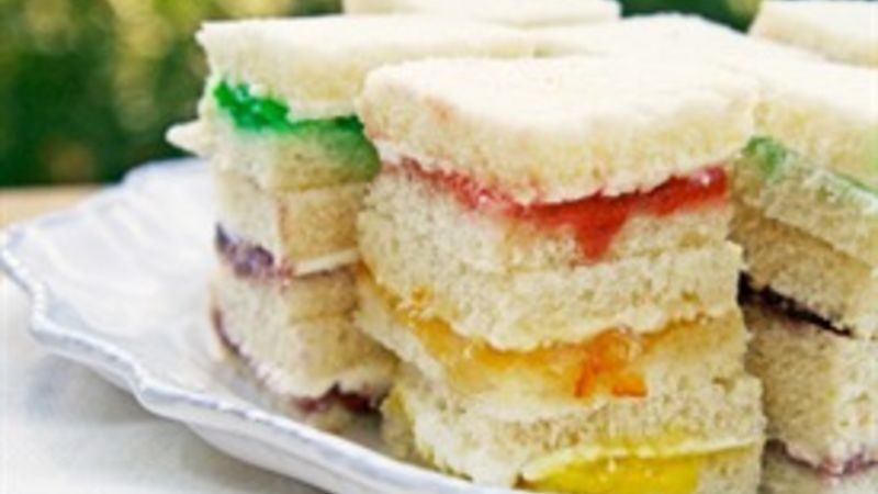 Rainbow Cream Cheese Sandwich Bites