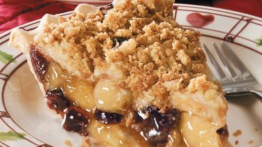 Cranberry-Apple Streusel Pie