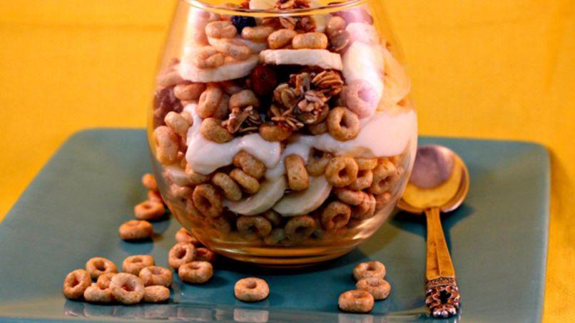 Parfait de Banana, Nueces y Cereales