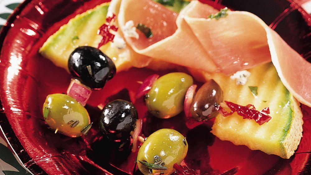 Rosemary and Garlic Marinated Olives