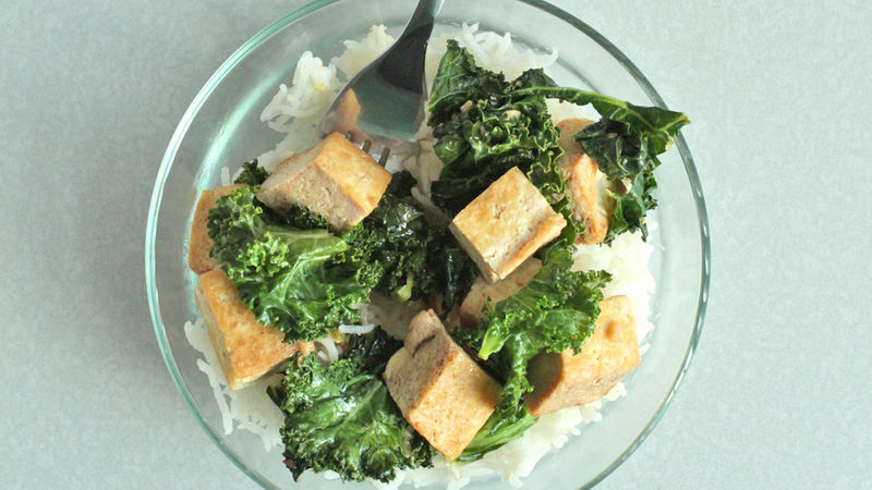 Kale and Crispy Tofu Stir Fry