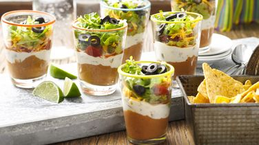 Mini 7 Layer Dips