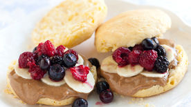 Almond-Berry Biscuit Sandwiches