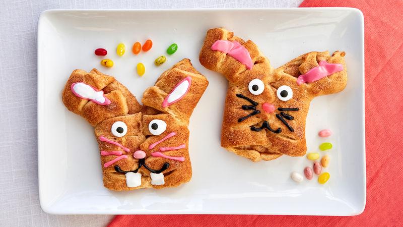 Cinnamon-Sugar Crescent Bunny Twist Bread