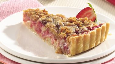 Rhubarb-Strawberry Tart