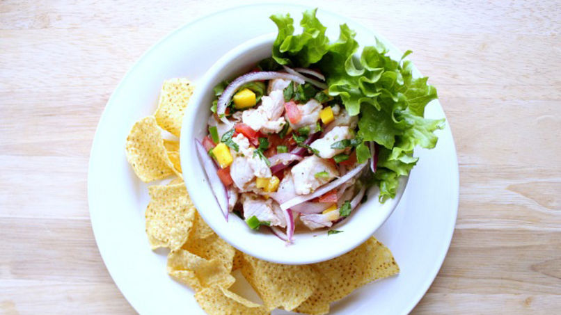 Caribbean Style Sweet-n-Spicy Ceviche