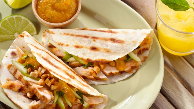 Coconut Curry Chicken Tacos