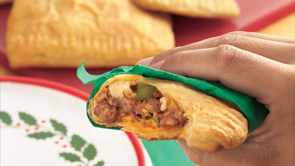 Pizzazzy Sausage Crescent Sandwiches