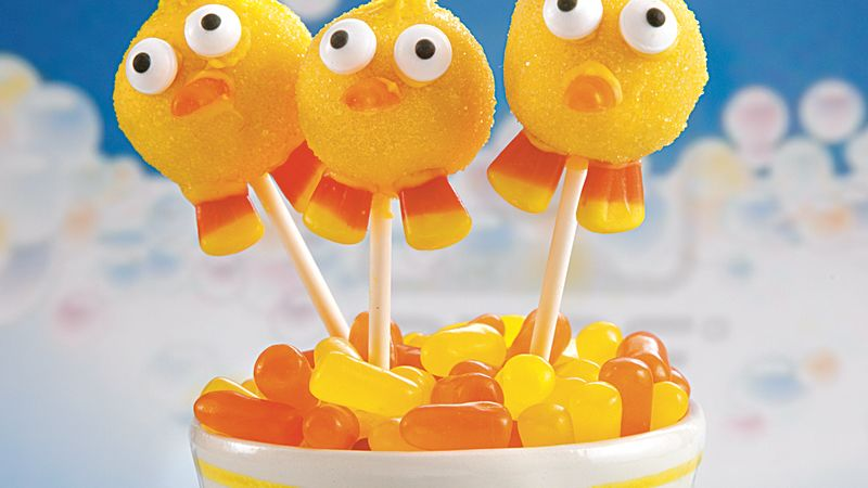 just ducky lemonade cake pops recipe bettycrocker com