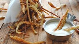 Truffle Fries with a Chardonnay Dipping Sauce