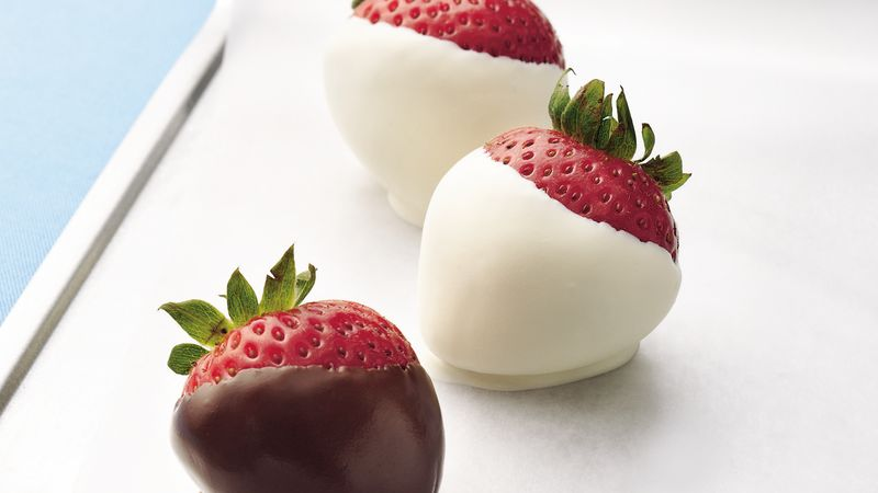 Chocolate Dipped Strawberries Recipe Bettycrocker Com
