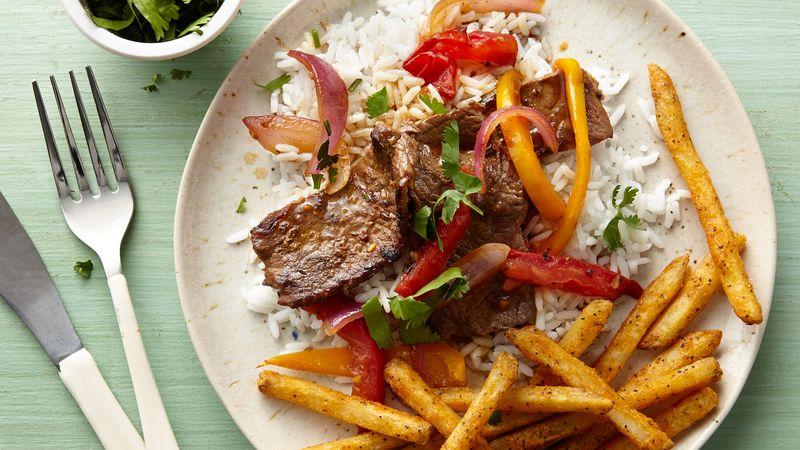 Peruvian lomo saltado recipe tablespoon peruvian lomo saltado forumfinder Choice Image