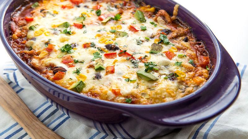 Cheesy Enchilada Quinoa Casserole