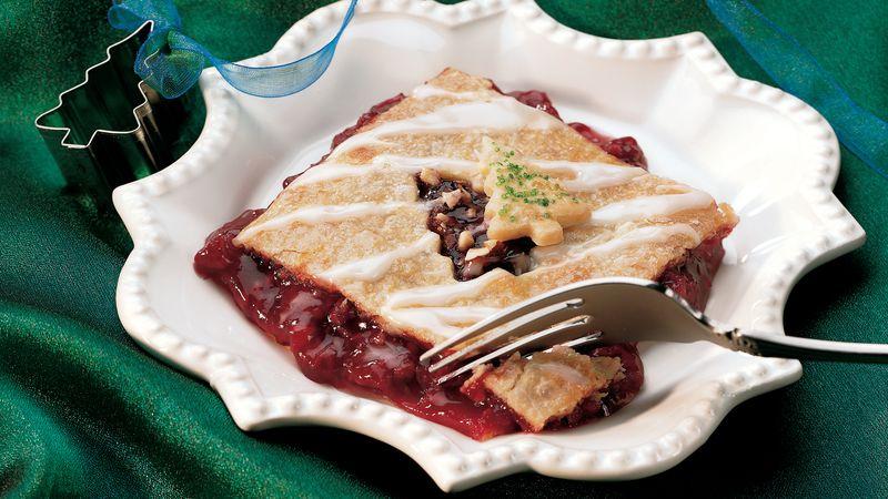 Raspberry Linzer Pie Squares