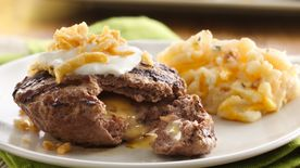 Loaded Burgers with Loaded Mashed Potatoes