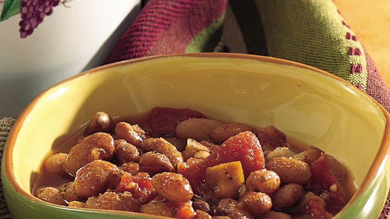 Slow Cooker Zesty Pinto Beans Recipe Bettycrocker Com