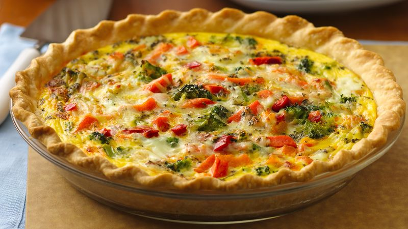 Italian Pepperoni Vegetable Quiche Recipe Pillsbury Com