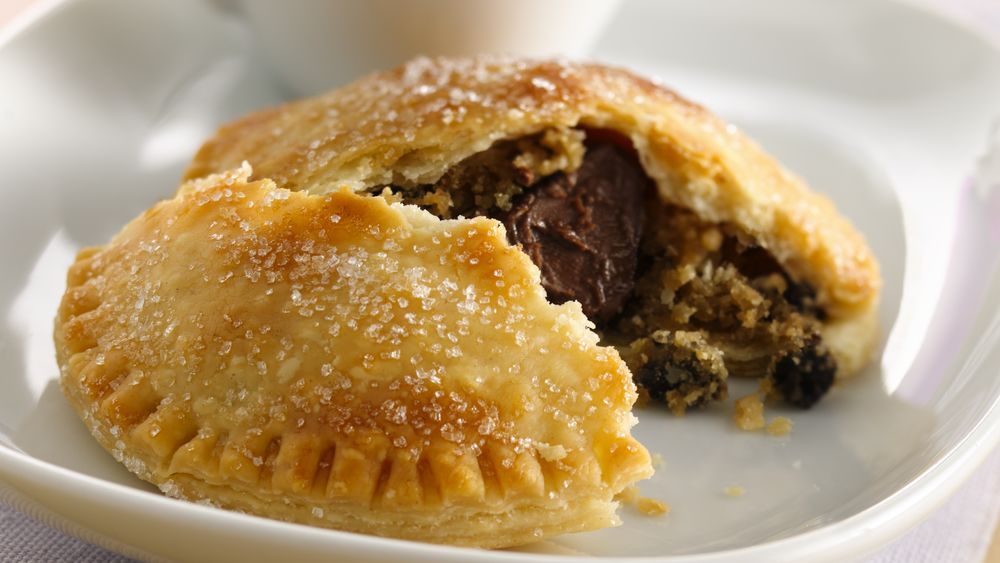 Chocolate-Chocolate Chip Cookie-Stuffed Pies