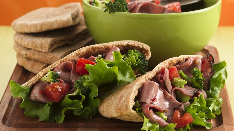 Fast Fajita and Vegetable Pita