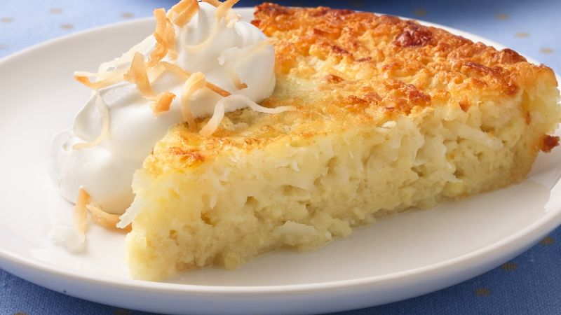 Impossibly Easy Coconut Pie Recipe Bettycrocker Com