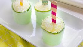 Frozen Margarita Yogurt Pops