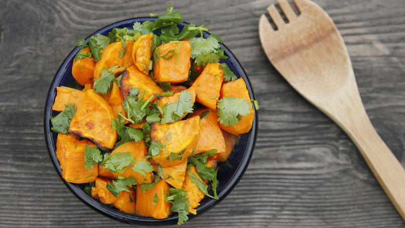 Sweet Potato with Lime and Cilantro