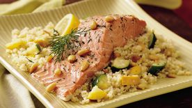 Salmon and Couscous Bake