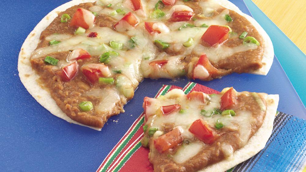 Mexican Bean Pizzas