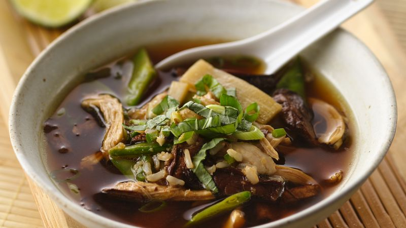 Asian mushroom chicken soup recipe bettycrocker asian mushroom chicken soup forumfinder Choice Image