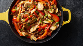Skillet Chicken with Garlic Sauce