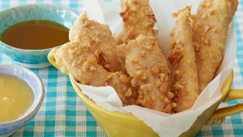 Crunchy Honey Roasted Chicken Fingers
