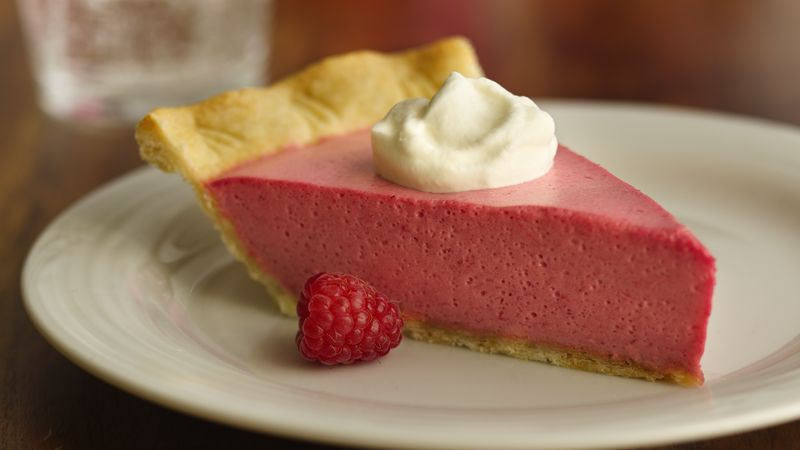 Raspberry-Lavender Cream Pie