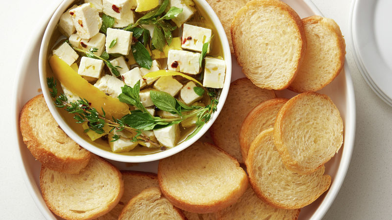 Lemon-Herb Marinated Feta