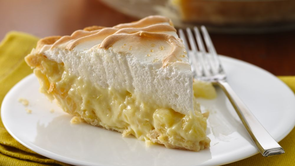 Pineapple-Sour Cream Pie