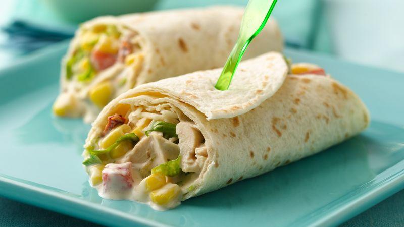 Chicken Fajita Salad Wraps